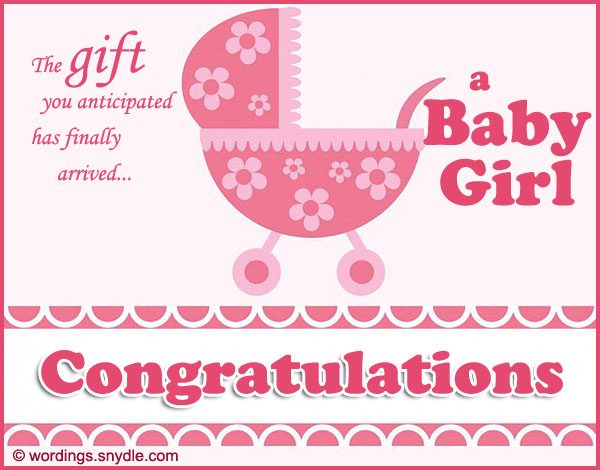 Congratulations Messages for New Baby Girl - Wordings and Messages - Birth Of Baby Girl