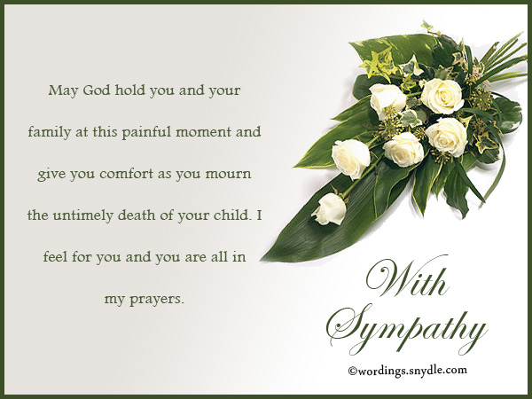 Sympathy Messages for Loss of a Child - Wordings and Messages - Condolence Messages
