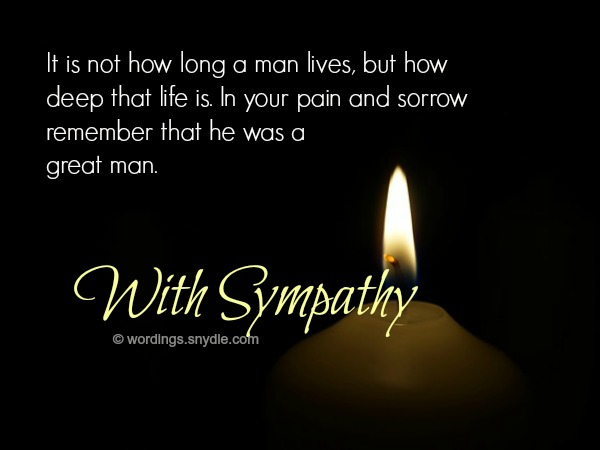 Sympathy Messages for Loss of Husband - Wordings and Messages - sympathy message