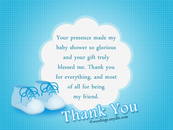 Thank You Messages for Baby Shower Messages And Gifts - Wordings and