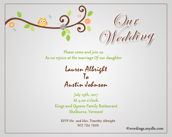 Informal Wedding Invitation Wording Together With Their