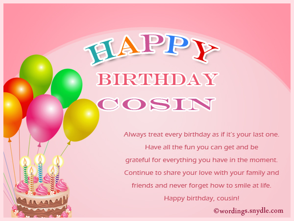 Birthday Wishes For Cousin - Wordings and Messages - sample happy birthday email