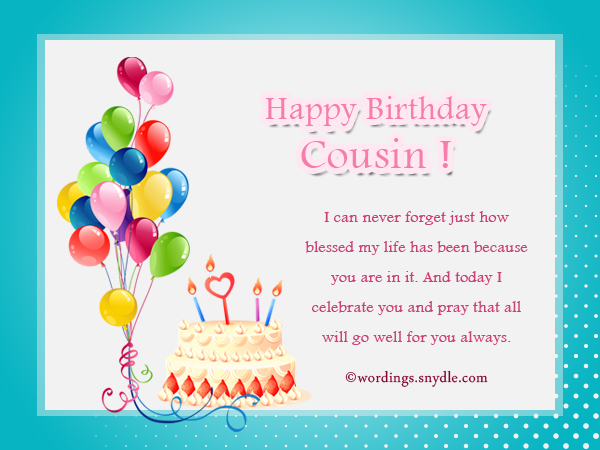 Birthday Wishes For Cousin - Wordings and Messages