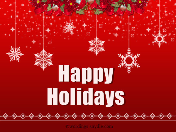 Happy Holidays Cards Messages ~ The Best Collection of Quotes - holiday greeting message