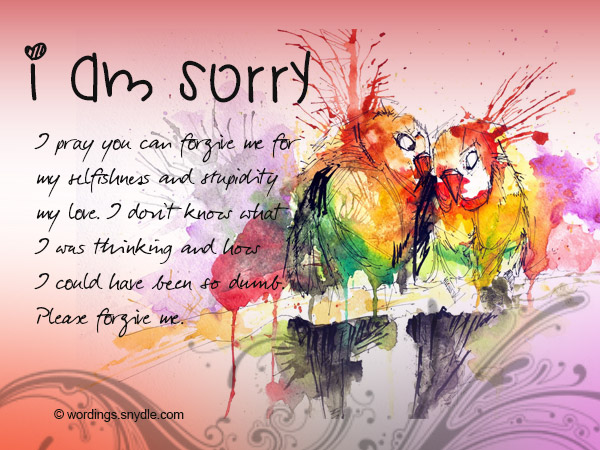Sorry Messages for Boyfriend - Wordings and Messages - apology card messages