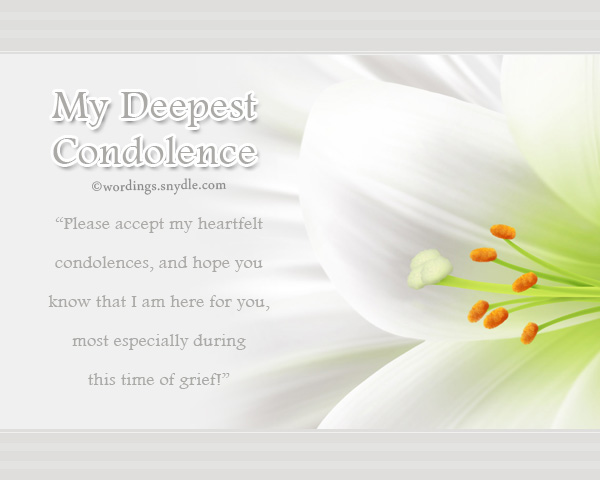 Condolence Messages - Wordings and Messages - condolence messages