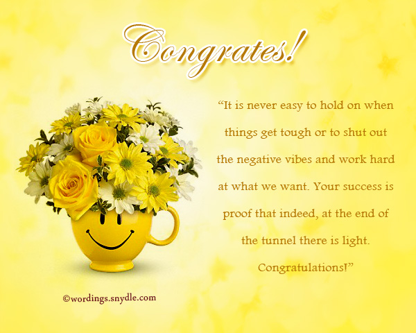 Congratulations Messages For Achievement - Wordings and Messages