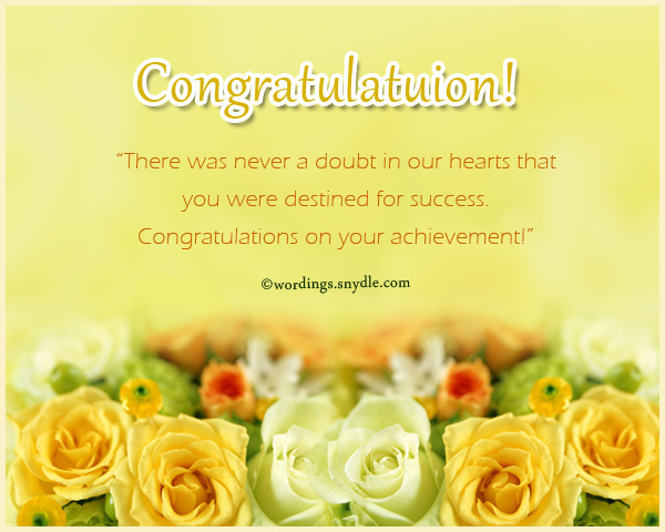 Congratulations Messages For Achievement - Wordings and Messages - congrats on new position