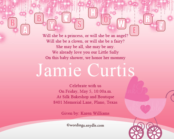 Baby Shower Party Invitation Wording - Wordings and Messages