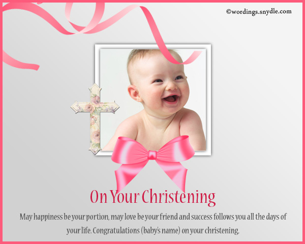 Writing A Christening Card