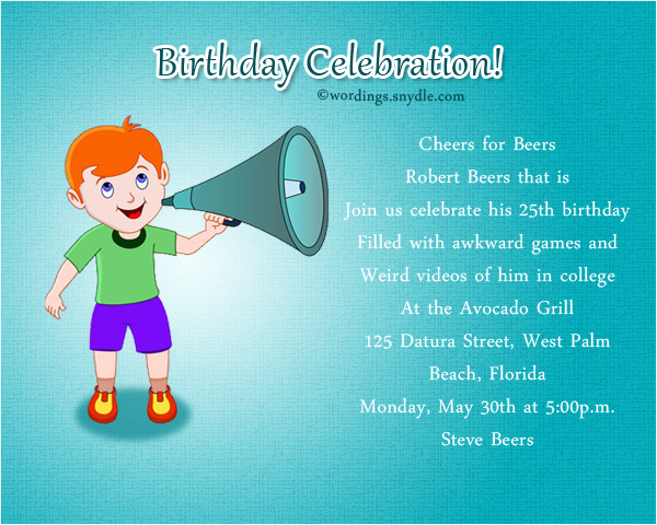Funny Birthday Party Invitation Wording - Wordings and Messages