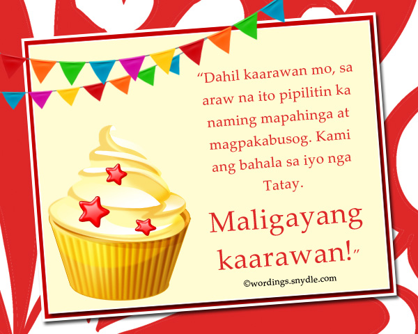 Happy Birthday Messages in Tagalog - Wordings and Messages - sample happy birthday email