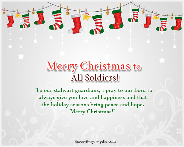 Merry Christmas Wishes for Soldiers - Wordings and Messages