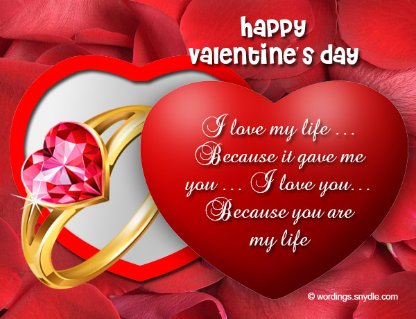 Valentines Day Messages for Wife - Wordings and Messages - valentines cards words