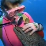 Woman becomes friends with an adorable Eel