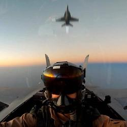 F A-18 Super Hornets Hi-Speed Low-Level Maneuvers