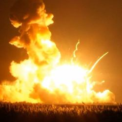 Unmanned Antares Rocket Explodes on liftoff