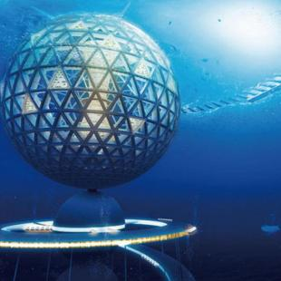 Spherical Underwater City holds up to 5000 people