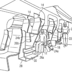 Airbus files patent for two-storey passenger seating
