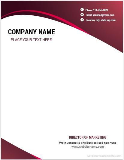 business letterhead word template