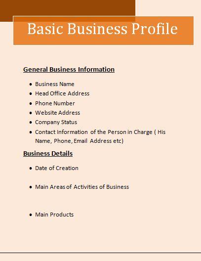 company profile template word