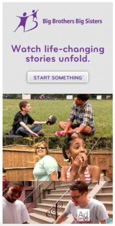 banner ad example from Big Brothers Big Sisters