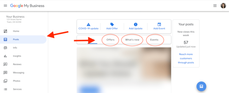 how promote a new product or service posts tab