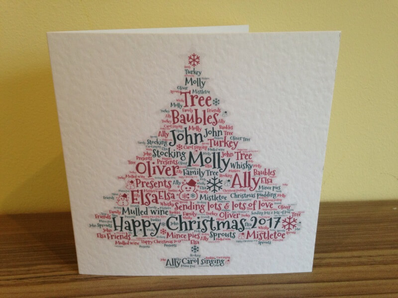 Personalised Christmas Cards - Words With Love