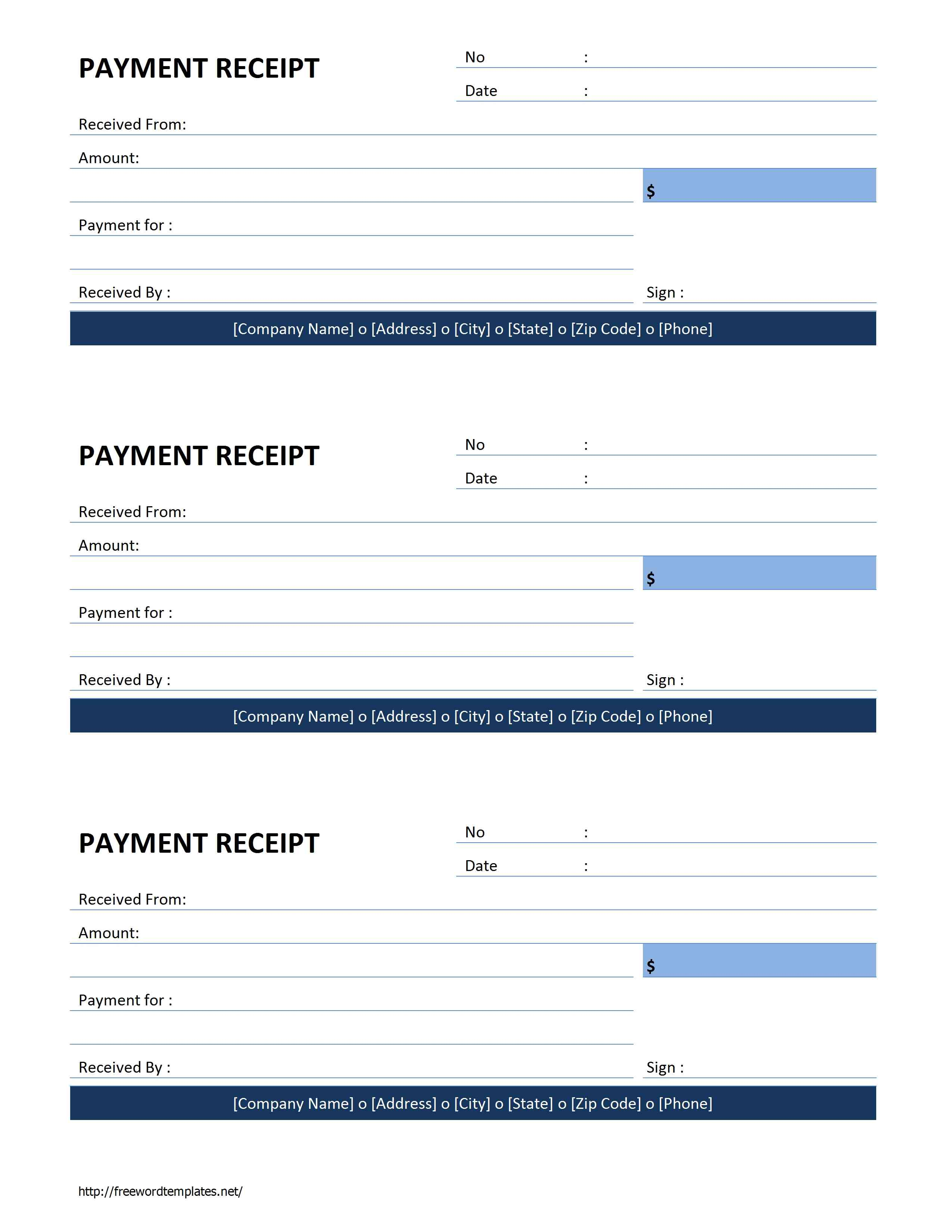Sample Letter Of Payment Received – Payment Received Receipt