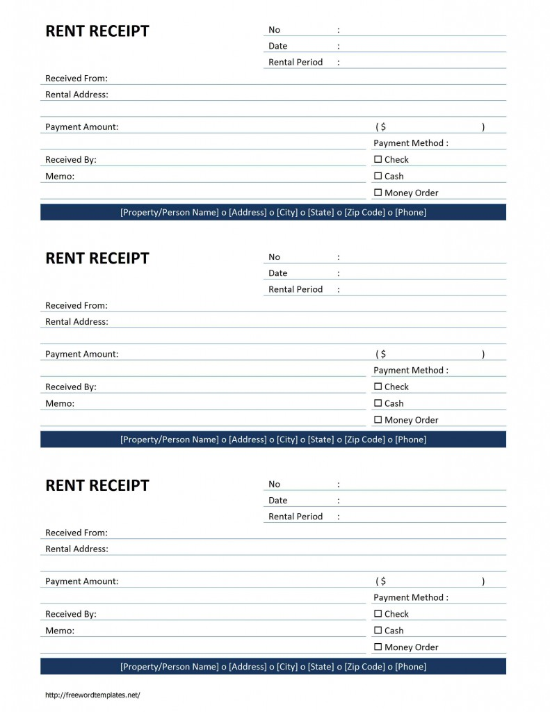Free Rent Receipt Template Word. Distance Learning Pros And Cons