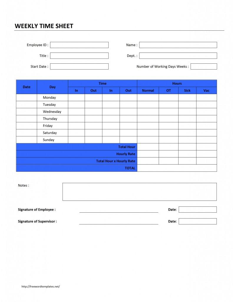 Employee Timesheet Template Excel Spreadsheet – Microsoft Templates Timesheet