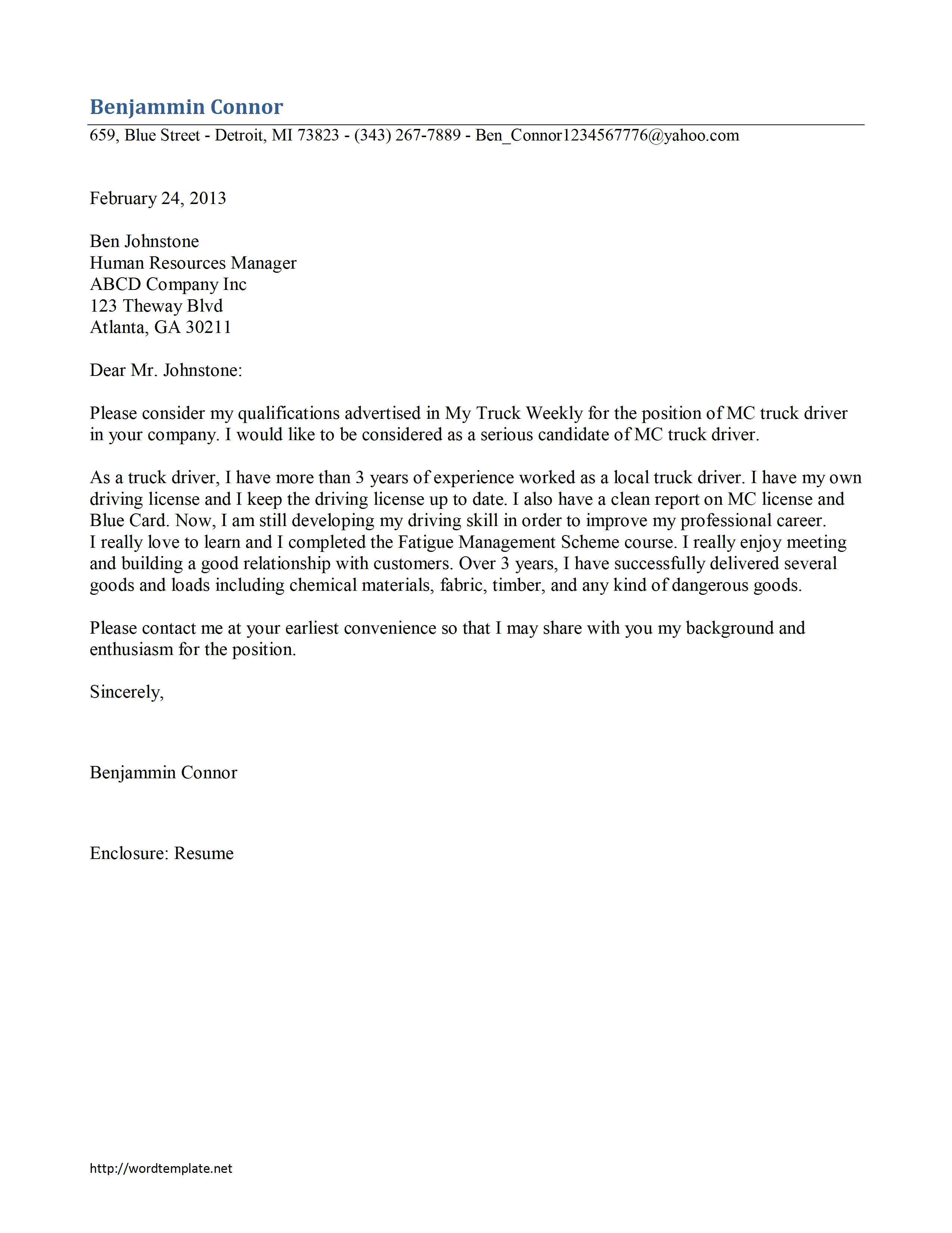 cover letter for bus driver bus driver cover letter example sample ...