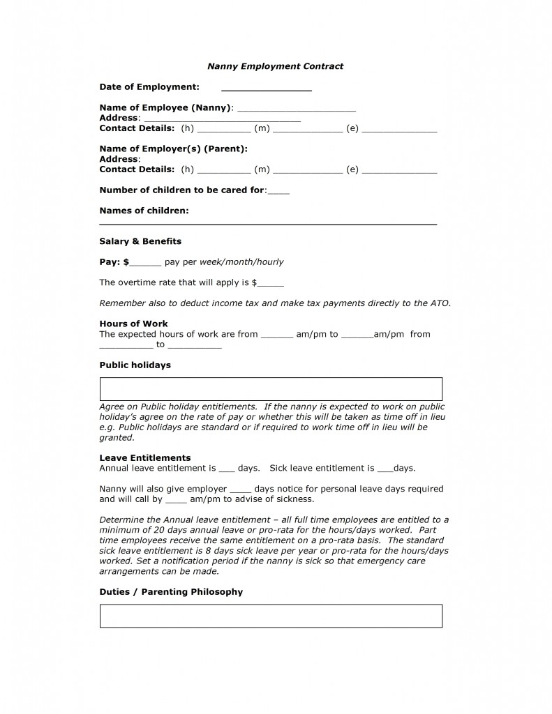 Free Employment Contract Template Word download free zero hours – Free Employment Contract