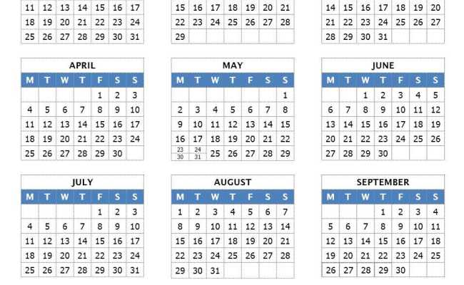 Year At Glance Calendar : Year at a glance calendar search results