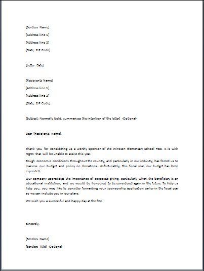 denial letter for job