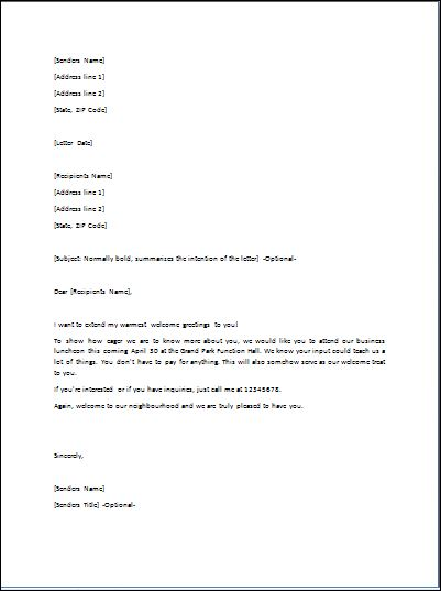 Sample Goodwill Letter Template Formal Word Templates