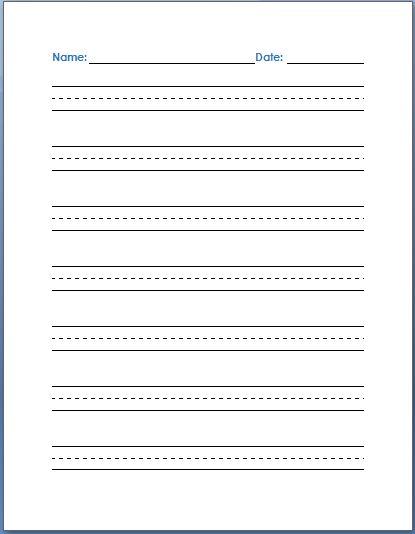 printable handwriting practice paper - Pinarkubkireklamowe