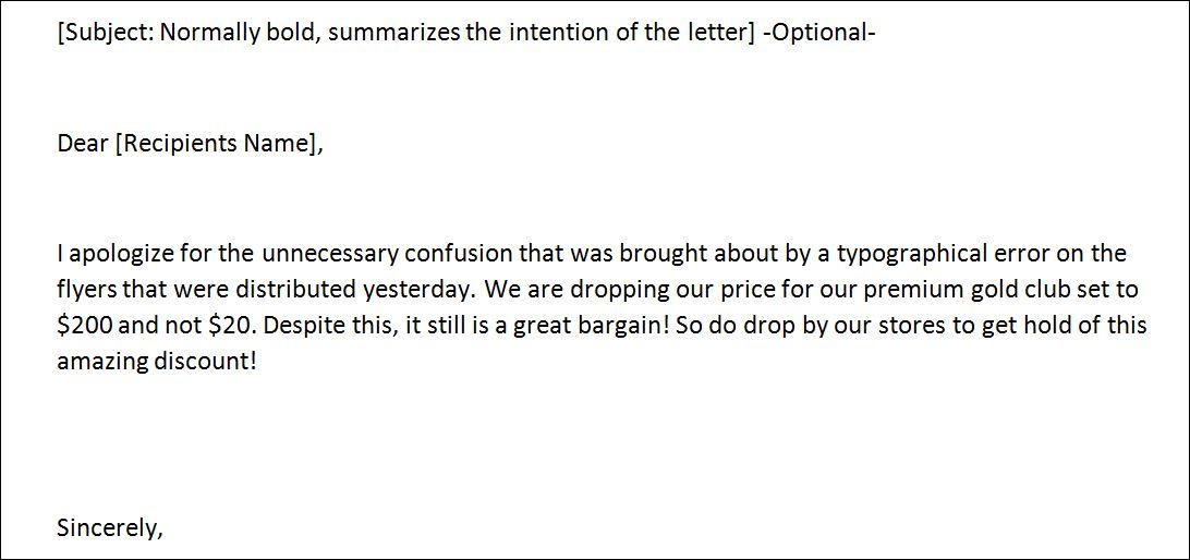 Sample Inform Letter Template Formal Word Templates