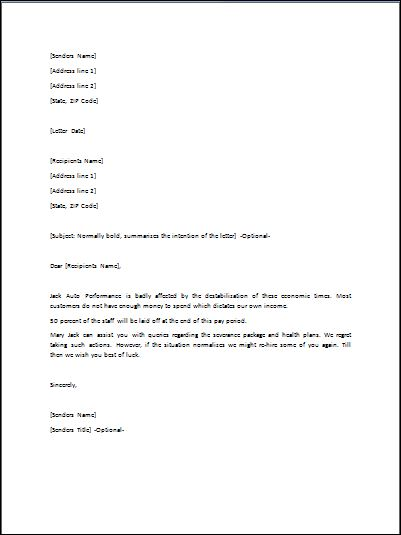 Get A Reference Letter Sample Explaining A Layoff Goodbye Sample Letter After Layoff Just Bcause