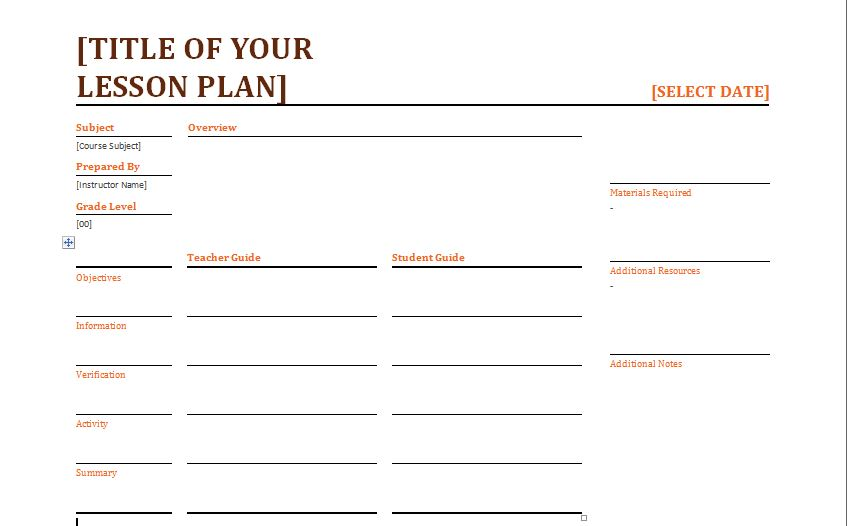 Daily Lesson Plan Template Word \u2013 Daily Lesson Plan Template 9 Free
