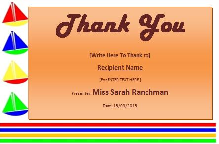 thank you award template - thank you certificate template