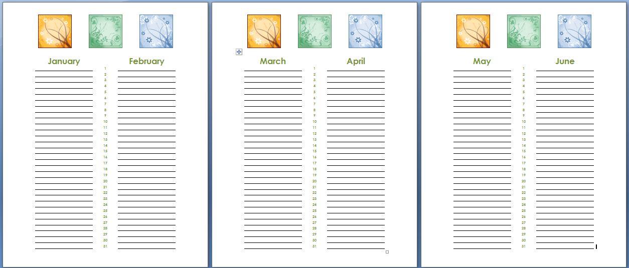 birthday and anniversary calendar - Ozilalmanoof - birthday calendar template