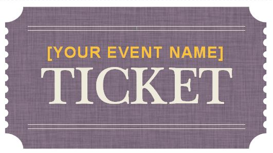 Generic Event Ticket Templates Formal Word Templates - Event Ticket Template Word