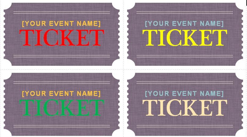 Sample Prom Ticket Template - prom ticket template