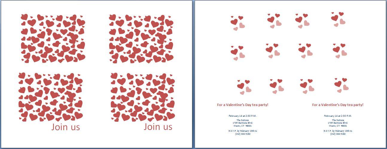 Valentineu0027s Day Tea Party Invitation Template Formal Word Templates - tea party invitation template