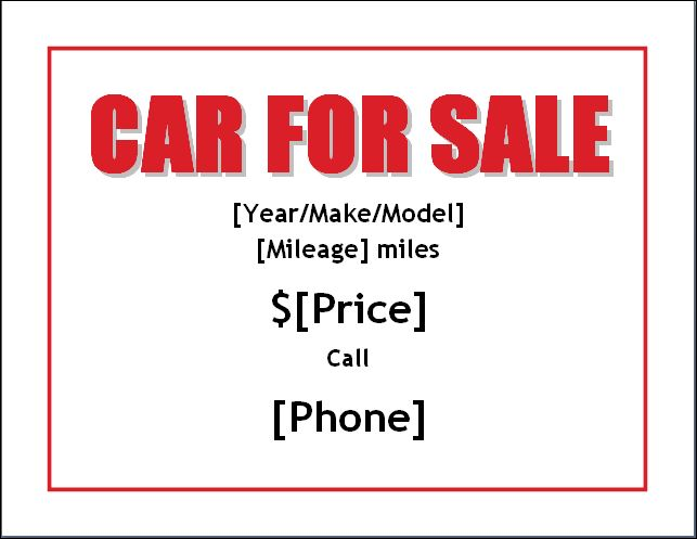 for sale template car - Funfpandroid