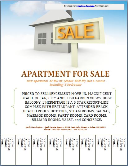 Sample Real Estate Poster Template Formal Word Templates