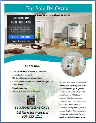 Sample Real Estate Poster Template Formal Word Templates - for sale poster template