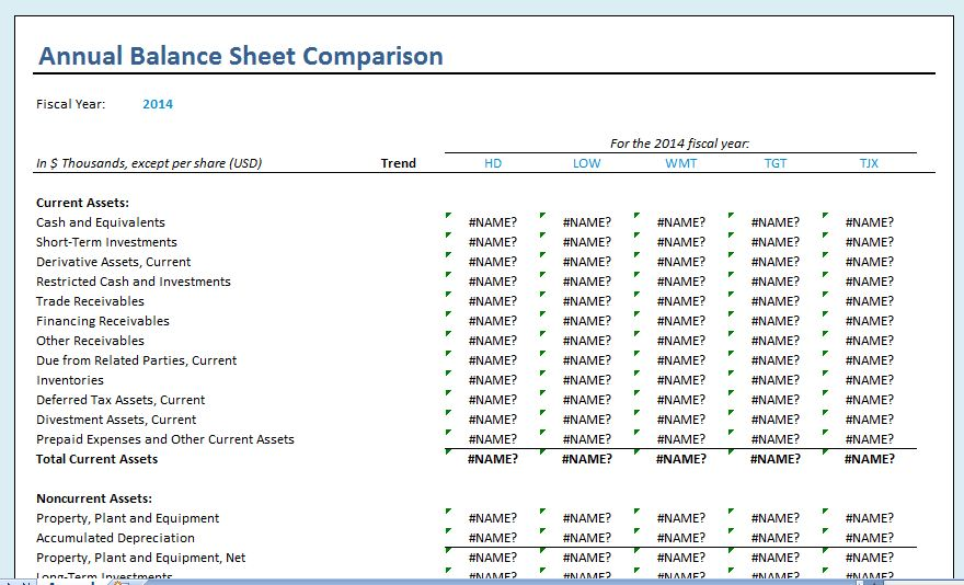 Yearly Comparison Balance Sheet Template Formal Word Templates - microsoft excel balance sheet template