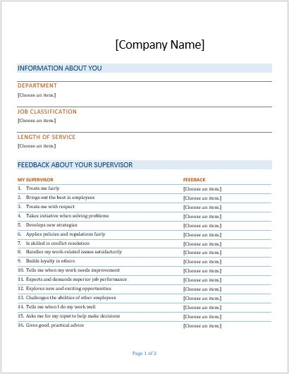 7 Customer Feedback Forms for all Businesses Formal Word Templates - substitute teacher feedback forms